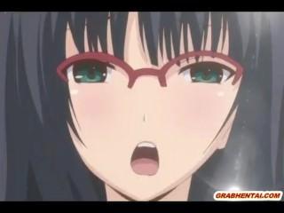 Bondage Japanese hentai vibrating her pussy