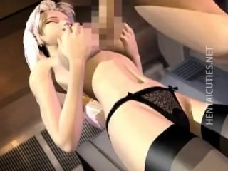 Horny blond 3D anime babe gets fucked