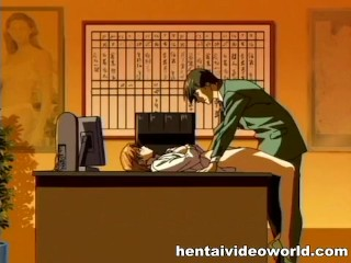 Boss takes sexy secretary virginity